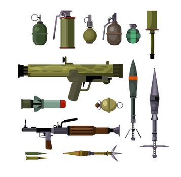Military weapons set