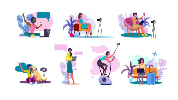 Video blogger set