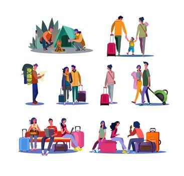 Tourism and trip set