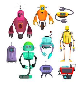 Colorful robots set