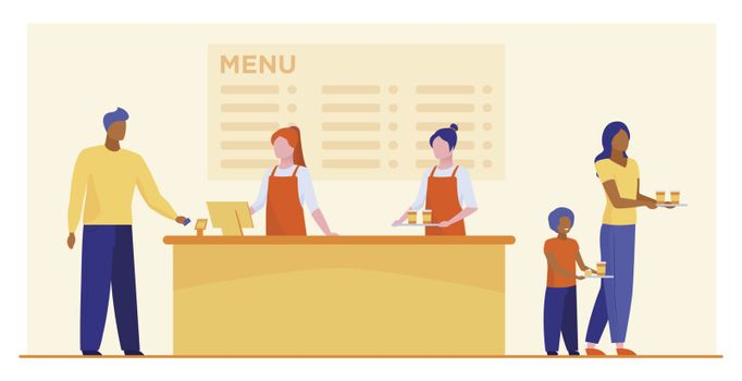 Fast food restaurant counter