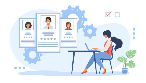 Recruit agent analyzing candidates