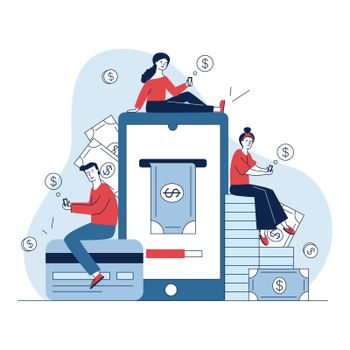 Smartphone users paying online