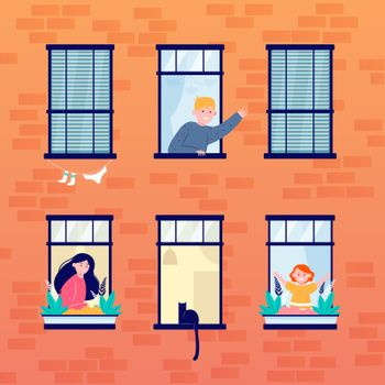 Daily life in open windows