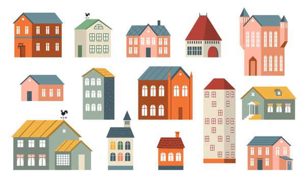 Family houses set
