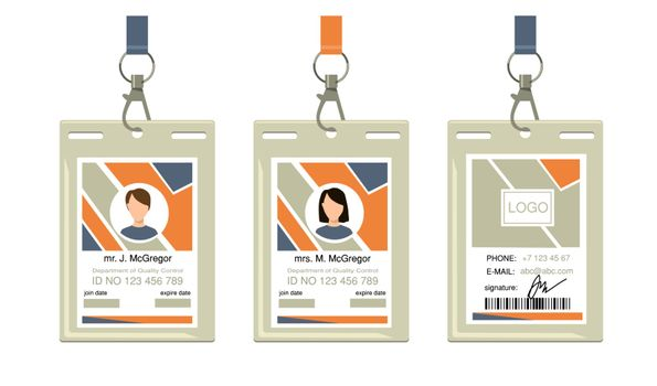 Employee corporate badges
