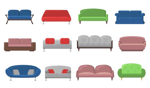 Various modern sofas and couches
