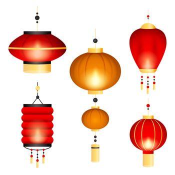 Set of Chinese lanterns