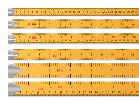 Measuring tape set
