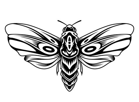 Beautiful butterfly vintage concept in monochrome style isolated vector illustration