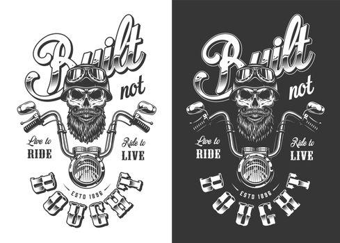 Biker emblem with skull