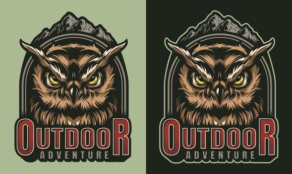 Colorful outdoor adventure vintage print
