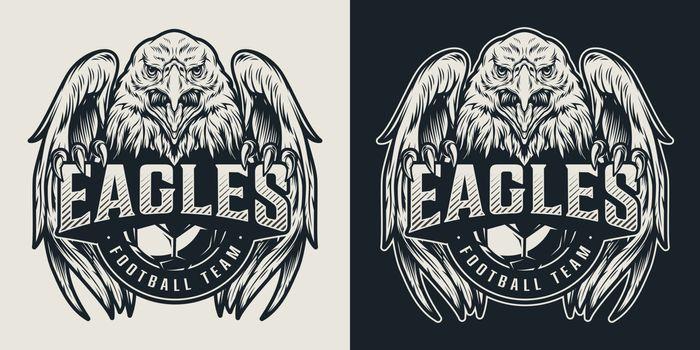Football team vintage logo