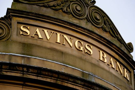 Bank Sign on Branch Facade in York UK
