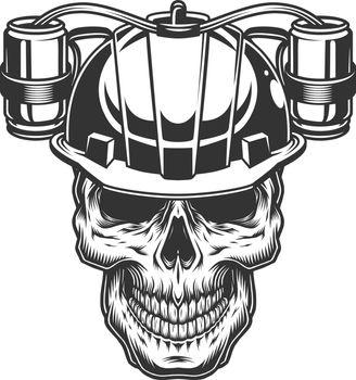 Skull in beer helmet