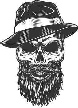 Skull in the fedora hat