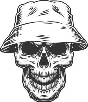 Skull in the panama hat