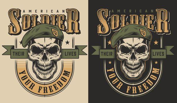Skull t-shirt print concept