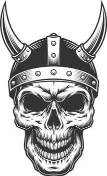 Skull in the viking helmet