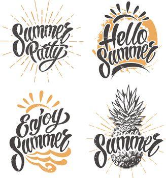 Summer vintage emblem