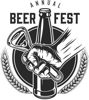 Vintage beer festival logotype