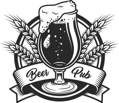 Vintage beer pub label template