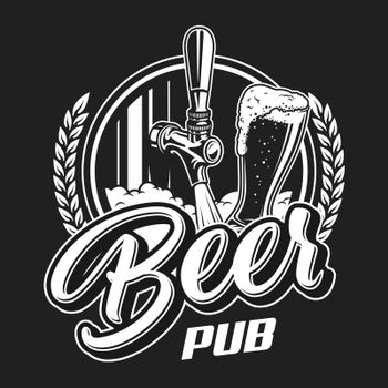 Vintage beer pub logotype concept