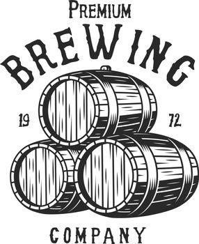 Vintage monochrome brewing company logotype