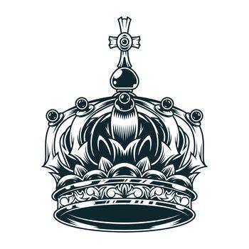 Vintage ornate royal crown concept