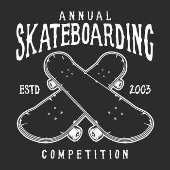 Vintage skateboarding logo
