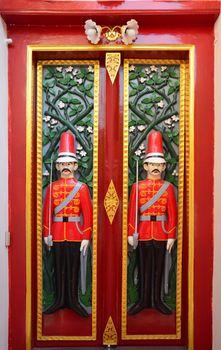 Beautiful solder carving doors