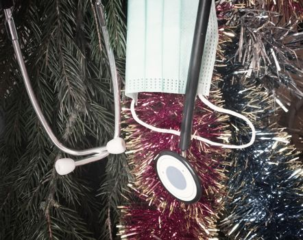 Medical Christmas party during the epidemic of the coronavirus