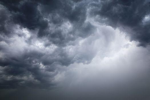 Horizontal cloudy sky texture