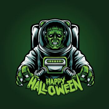 Astronaut Franky Happy Halloween Illustrations for Clothing line and merchandise your brand business