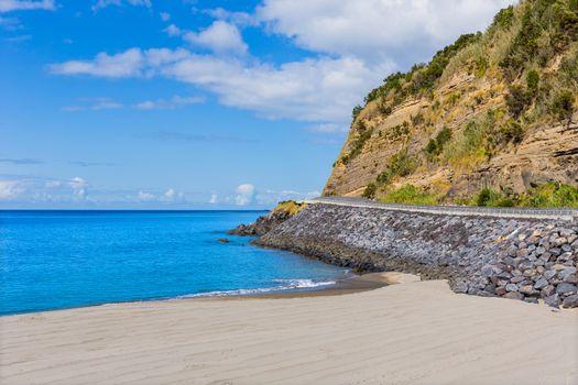 beach sand in Agua de Pau, Azores