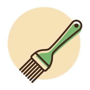 Silicone cooking brush vector icon. Kitchen appliances. Graph symbol for cooking web site design, logo, app, UI