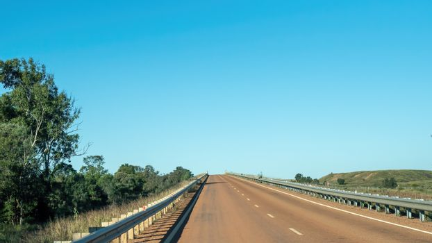 Bitumen Highway In The Australian Outback
