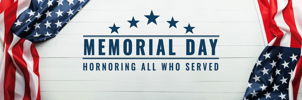 USA Memorial day and Independence day concept, United States of