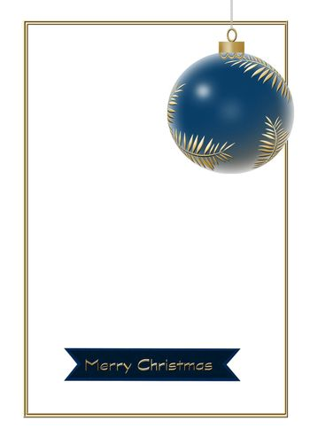 Hanging Christmas ball made of gold leaves with red lantern with gold ornament on white background. Minimalist greeting 2021 New Year card. Happy New Year text. 3D illustration