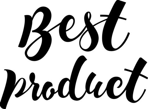 Best Product lettering