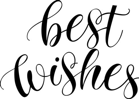 Best Wishes Calligraphic Lettering