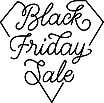 Black Friday Sale lettering. Handwritten text, calligraphy. For posters, banners, leaflets and brochures.