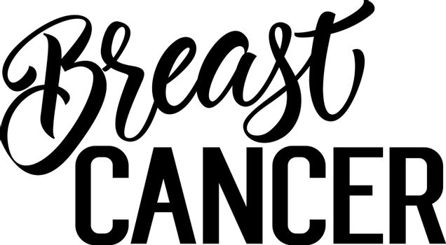 Breast Cancer Lettering