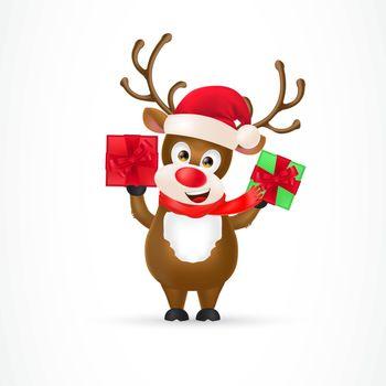 Christmas Reindeer Cartoon Character