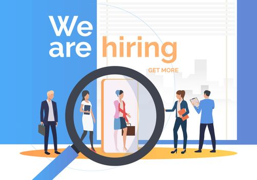 Employment agency searching for job candidates