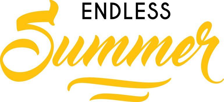 Endless summer seasonal advertisement template