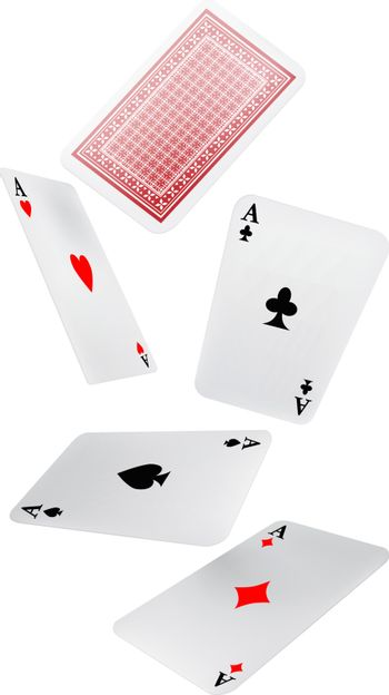 Falling playing cards