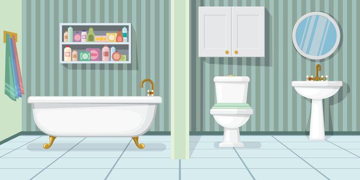 Fashionable bathroom vector illustration