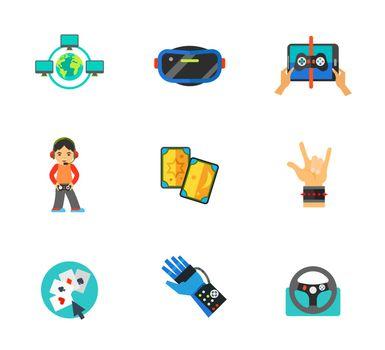 Computer games icon set