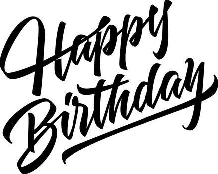 Happy Birthday Lettering